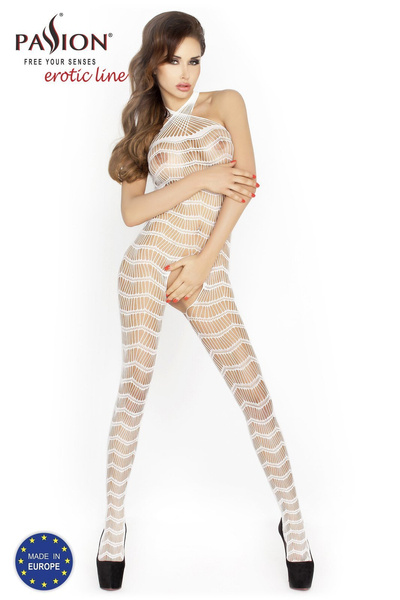 BS022 bodystocking białe Passion Lingerie